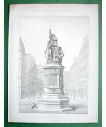 ARCHITECTURE 2 PRINTS : Paris Monument to Marshall Moncey Place de Clichy - $12.15