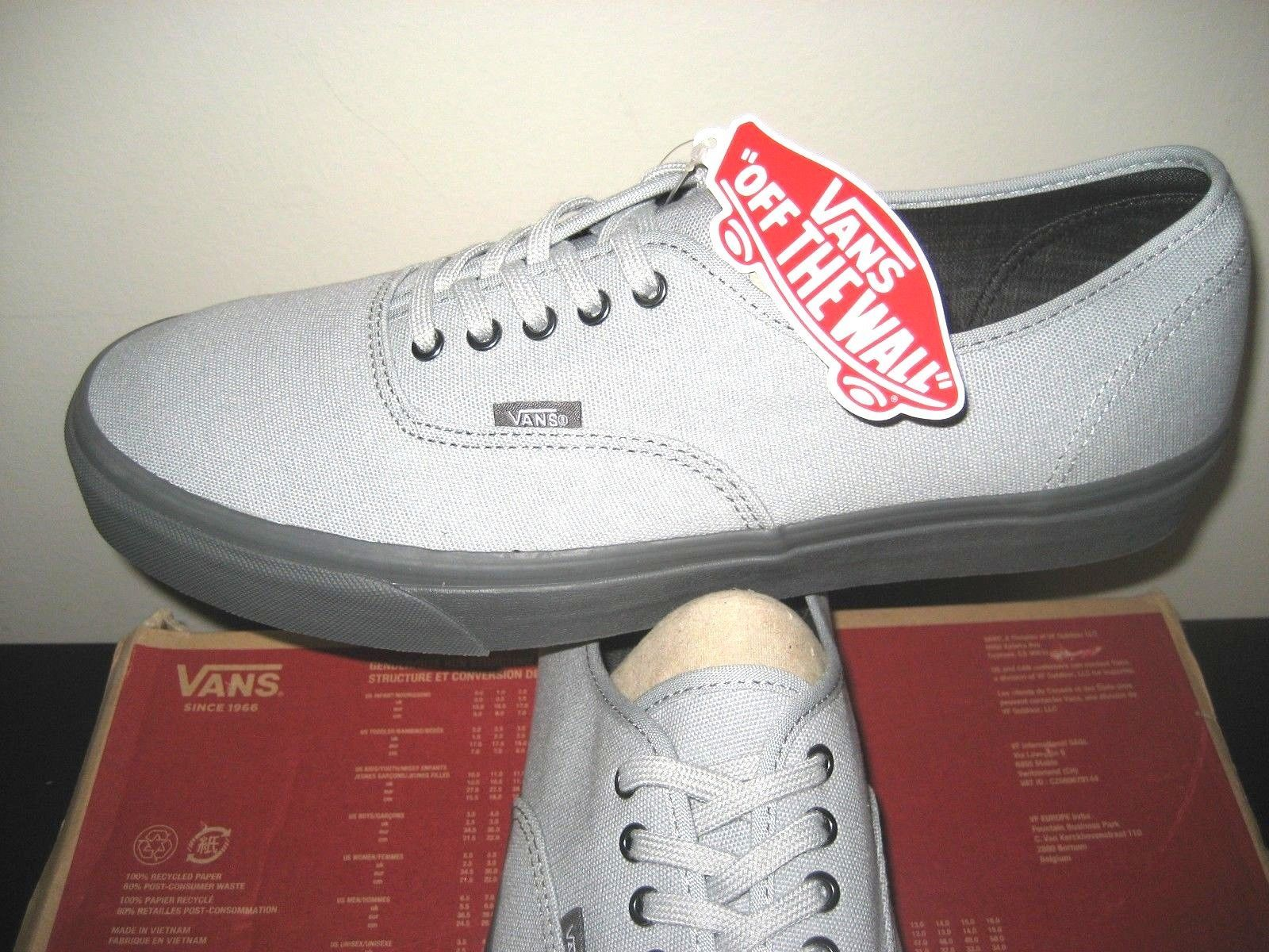 094e41a396d031 S l1600. S l1600. Previous. Vans Mens Authentic C D High Rise Pewter Grey  Canvas Skate Boat shoes Size 13
