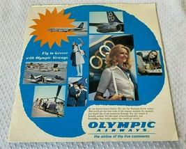Vtg Olympic Airways Aerolíneas 1973 Fly A Grecia L.P Record + Destino Gu... - $35.58