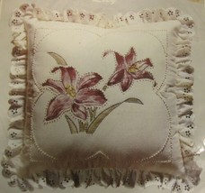 Wang's LILY WKIT078 Sealed Colored Candlewicking Pillow Kit Vintage 14x14 - $19.95