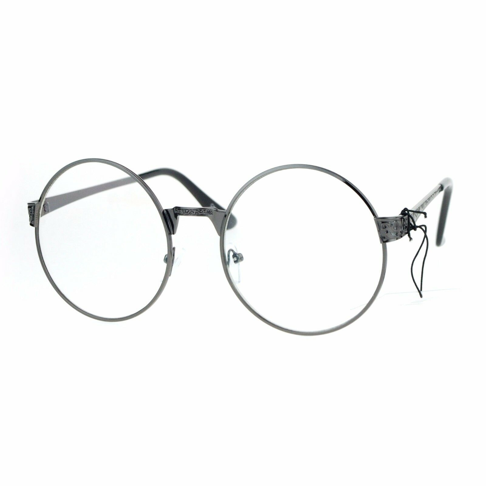 Womens Clear Lens Glasses Vintage Style Round Circle Metal Frame Eyeglasses