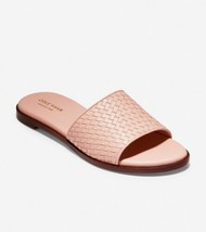 Cole Haan Women Slide Sandals Analise Size US 8.5B Blush Pink Woven Leather - $70.94