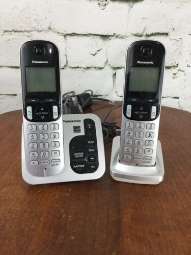 Panasonic 2 Handset Cordless Phone System with answering machine KX-TGC220 *USED