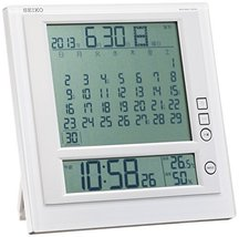 Seiko CLOCK clock hanging clock table clock combined monthly calendar function R - $92.76