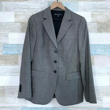 Brooks Brothers Pure Wool Nailhead Blazer Jacket Gray 3 Button Career Wo... - $79.19