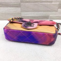 AUTHNTIC CHANEL LIMITED EDITION LAMBSKIN QUIILTED MINI FLOWER POWER FLAP BAG image 10