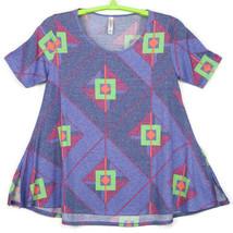 LuLaRoe Perfect T Tee Womens T-Shirt Shirt Tunic Blue Pink Green Size M ... - $39.55