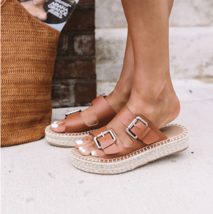 Tan Amette Buckle Slip On Espadrille - $29.99