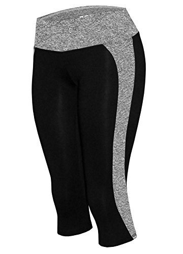 W Sport Women's Moisture Wick Skinny Athletic Yoga Capri Leggings, Heather Gray,