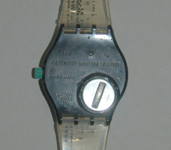 SWATCH Stop SSB100 Jess' Rush 1993 Swiss Made Wristwatch Rubber Strap Vintage image 7