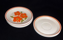 Lenox Temper Ware 'Fire Flower' 4 Bread Plates & 2 Saucers - No Reserve - $9.95