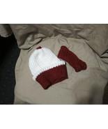 Handmade Knitted Cupcake & Headband Infant Winter Hat Cap CUTE - $14.85