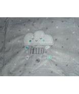 Just Born Baby Blanket Cloud Hello White Gray & White Plush 30x40 X NWOT - $29.69