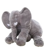 Big Soft Baby Elephant Plush Toy – Stuffed Elephant Cushion Doll Toy for... - $44.00