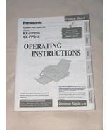 Panasonic Comp Plain Paper FAX KX FP250 FP245 Operating Instructions Manual - $12.39