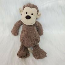 "12"" Jellycat London Bashful Monkey Brown Tan Plush Lovey Stuffed Animal ... - $14.99"