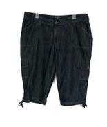Lee Riders Womens Jeans Size 22W Medium Wash Crop Denim Drawstring Cargo... - $17.35