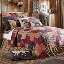 5-pc Wyatt King Quilt Set - Standard Shams - Brown, Red, Khaki - Vhc Brands