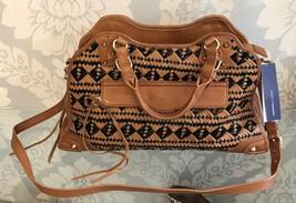 REBECCA MINKOFF Brown & Black Woven Bag $495 NWT Style #10ZIWCU M2-998 - $224.85