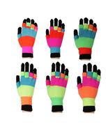 Neon Double Layer Full Finger and Fingerless Gloves - $6.99