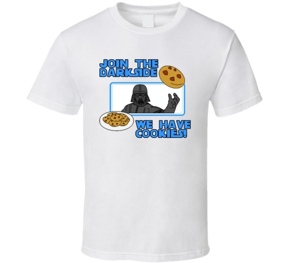 Join The Darkside We Have Cookies Funny Star Wars T Shirt - $16.69 - $21.29