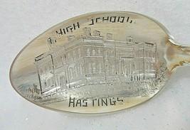 Sterling Silver Souvenir Spoon Hastings, Nebraska High School - $39.10