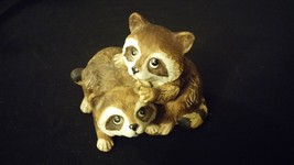Two Racoons Home Interiors Figurine HOMCO - $17.00