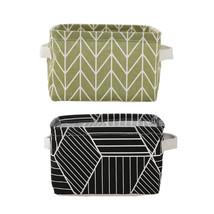 2-Pack Folding Storage Basket Laundry Hamper Clothes Bucket Storage Bag - €17,49 EUR