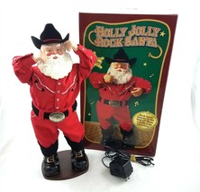 Holly Jolly Rock Santa Collectibles Musical Dancing Cowboy Alan Jackson ... - $34.64