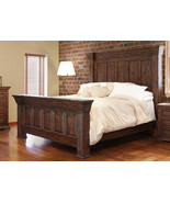 Rustic Mauve King Bed Real High Quality Wood - $1,880.01