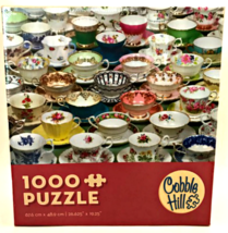 Jigsaw Puzzle Teacups Cobble Hill 1000 Piece Ages 12+ Made in USA - $24.74