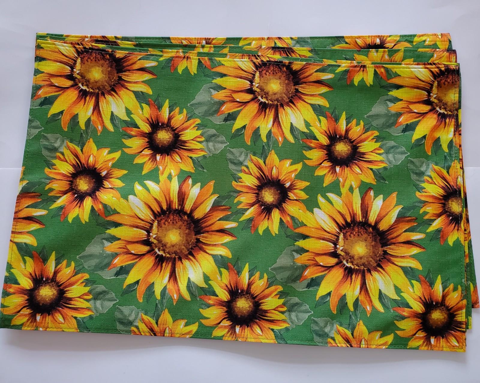 Sunflowergreenbrown placemats
