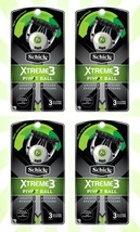 4 Schick Xtreme 3 PivotBall Disposable Razors for Men 12ct Total - $18.80