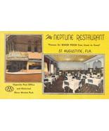 ST AUGUSTINE, Florida FL   NEPTUNE RESTAURANT~GRILL  Roadside  ca1940's ... - $6.84