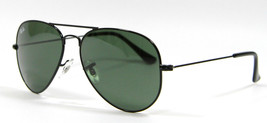 Ray Ban 3025 W3235 Gunmetal Aviator Sunglasses 58mm New and Authentic - $78.16