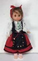 """Romanian ? Antique 10"""" Plastic Doll / jointed arms / brown eyes / GYPSY - $19.79"""