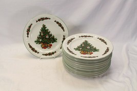 "Made in China Xmas Tree Dinner Plates 10.5"" Set of 12 - $94.07"