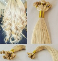 20″ Hand-Tied Weft Hair, 100 grams,100% Human Remy Hair Extensions # 60 - $202.94