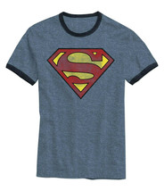 Hybrid Mens Superman Graphic T-Shirt Navy Size XL - $19.79