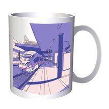 Railroad Railway Station Train Vintage Funny 11oz Mug c324 - $10.83