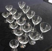 Mint Lot of 17 Fostoria Beveled Stem Crystal Glasses: Water, Wine, Goble... - $99.99