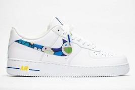 nike air force 1 white custom 'Murakami' available in all sizes 7-13 100% auth. - $210.00