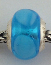 Authentic Lovelinks Pastiche  Murano Glass Turquoise Blue Bead Charm - $14.24