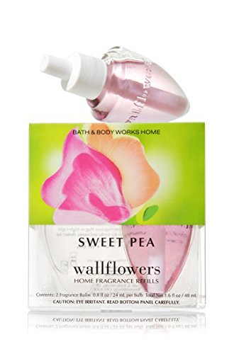 Bath Body Works Sweet Pea Wallflowers Home Fragrance Refills 2 Bulbs