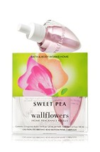 Bath Body Works Sweet Pea Wallflowers Home Fragrance Refills 2 Bulbs - $13.99