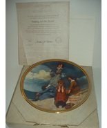 Norman Rockwell Waiting On The Shore Plate Rediscovered Women 1981 w/ Bo... - $16.99