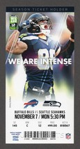 2016 SEAHAWKS vs BUFFALO BILLS Full Season Ticket Stub 11/7 JIMMY GRAHAM - $2.49