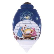 Northern Nativity Igloo Ornament Ne'Qwa Art Christmas Reverse Painted Es... - $59.39