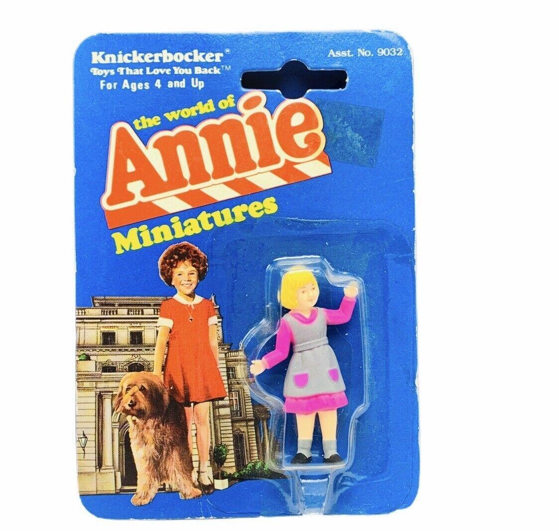 Little Orphan Annie miniature figure knickerbocker 1982 moc Pepper Sorrentino - $29.65