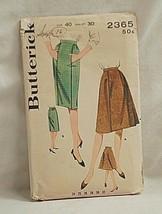 Old Vintage 1963 Butterick Sewing Pattern 2365 Misses Slim or Flared Skirt - $6.92